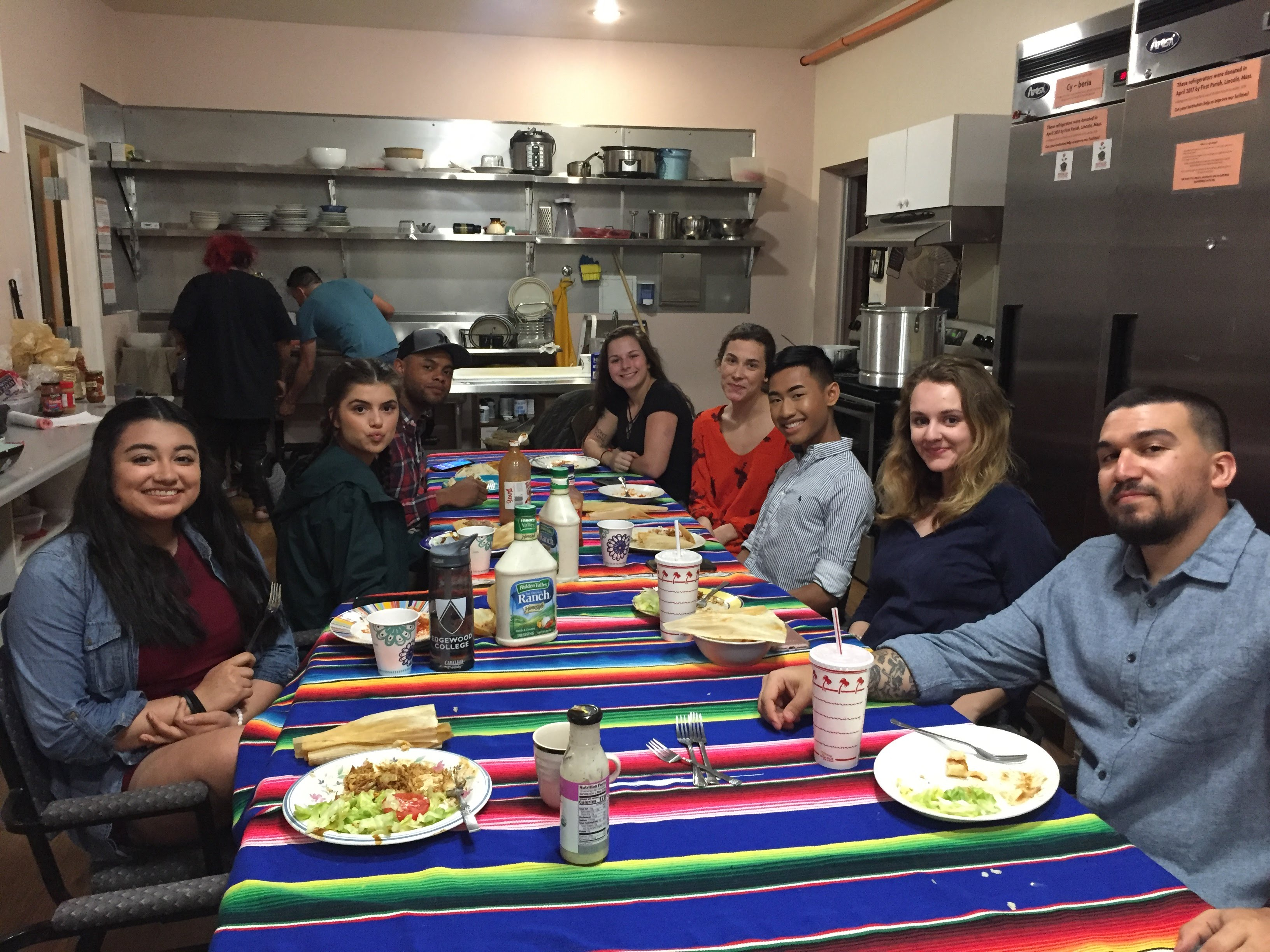 Students on the Bridging Borders Trip to Mexico, Spring 2018