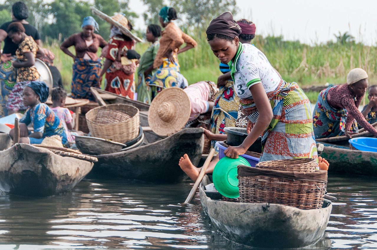 Photo of women in boats in Africa