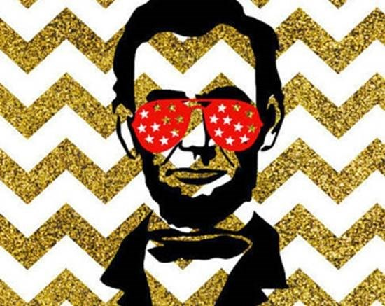 illustration of Abraham Lincoln with sunglasses