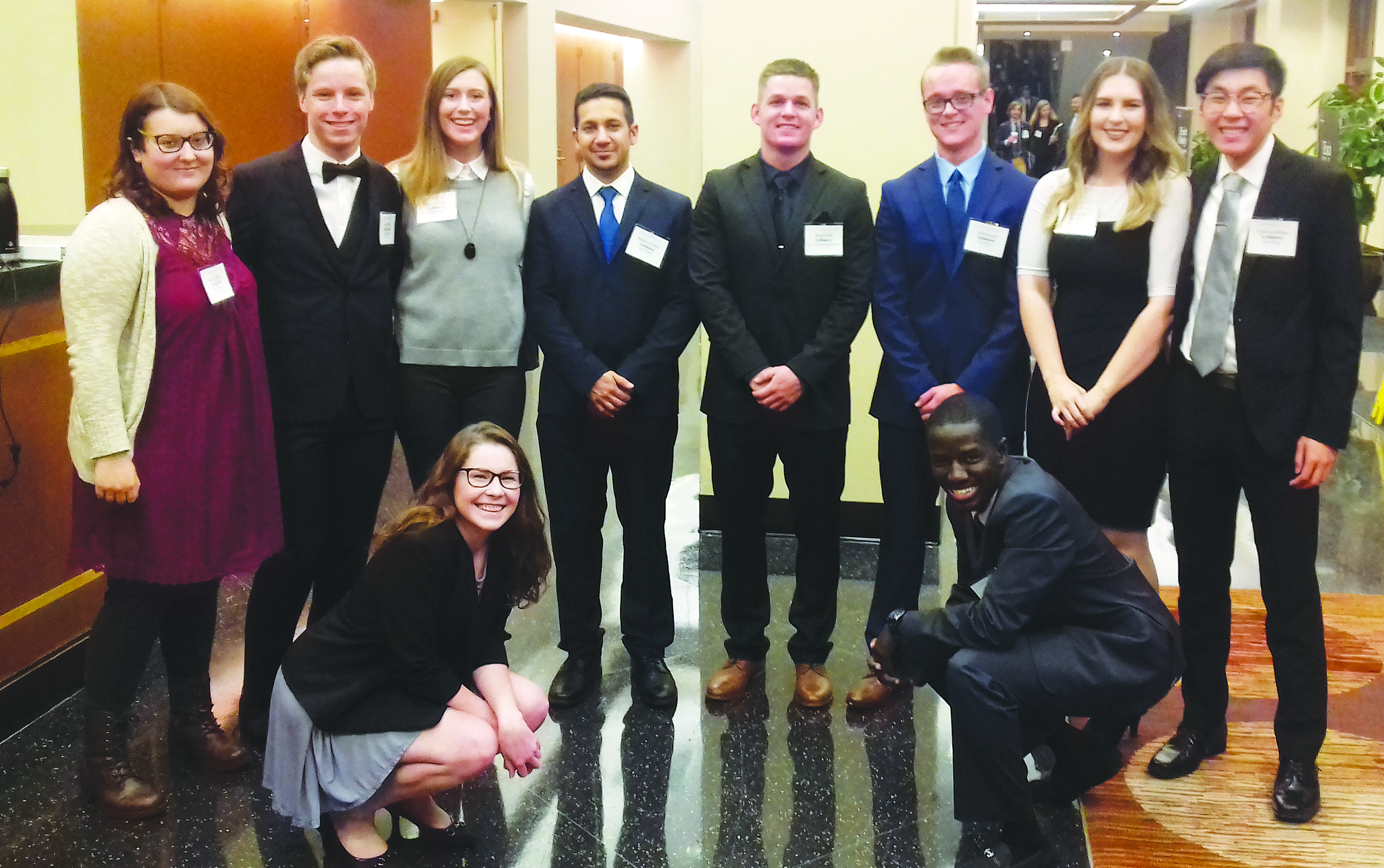 photos of students at Model UN Event in Chicago